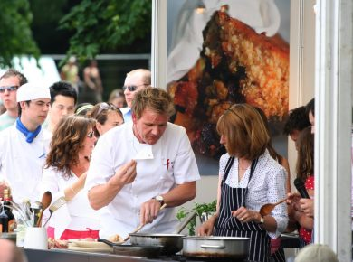 Gordon Ramsay cooking