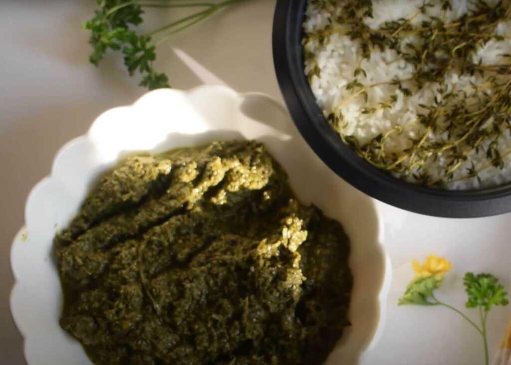 isombe made from cassava leaves-food in rwanda