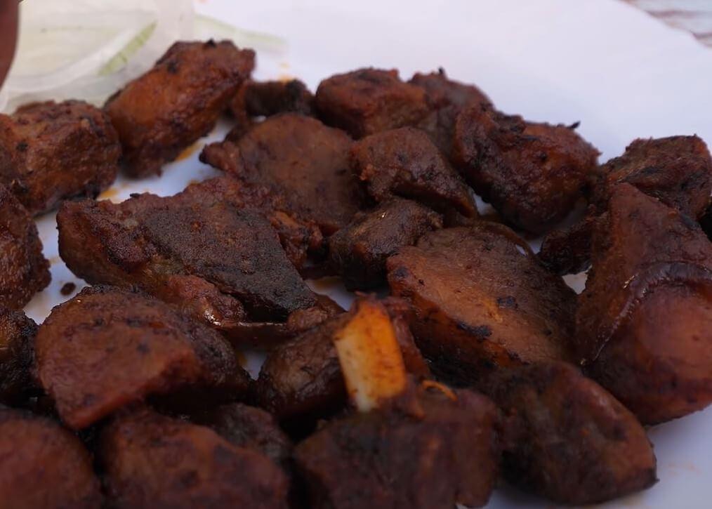food in rwanda - Akabenz (Barbacued Rwanda Pork)