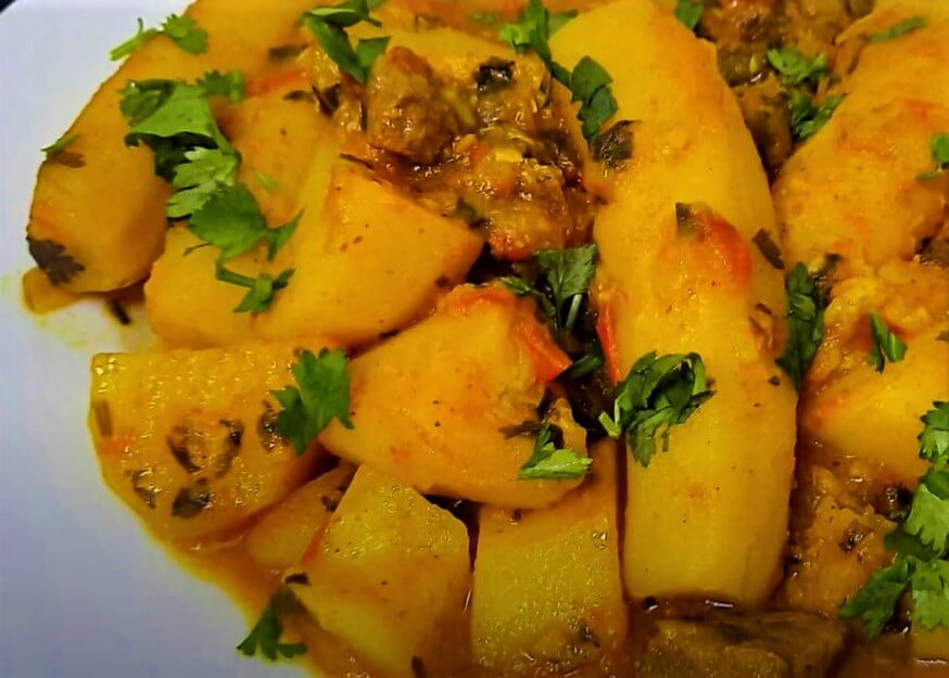 food in rwanda - Matoke (Steamed and mashed plantains)